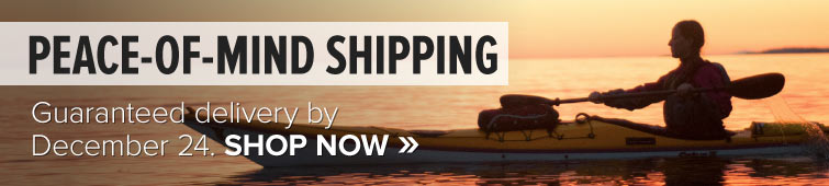 Peace-of-Mind Shipping. Guaranteed delivery by December 24.